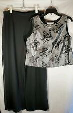2 Piece Palazzo Pants / Top Outfit Vintage Elegant Party Formalwear Women Large