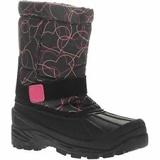 GIRLS/TODDLER SIZE 5 WINTER SNOW BOOTS ~ BLACK/ PINK ~ INSULATED/WATERPROOF ~NEW