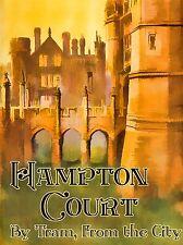 Publicité voyage tram Hampton Court Pont Art Poster Print lv298