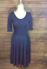 LULAROE Size XS Heather Blue Quarter Sleeve Dress