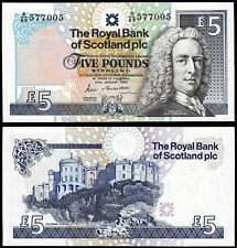 Escocia Royal Bank PLC 5 lb (approx. 2.27 kg) (P352a) 1990 Au/Unc