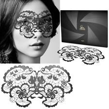 Reusable Black Floral Vinyl Sticker Eye Mask Costume Cosplay Masquerade Dance