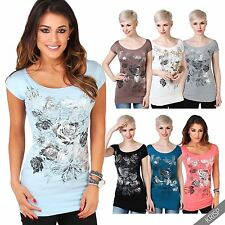 Boat Neck Party Floral Plus Size Tops & Shirts for Women
