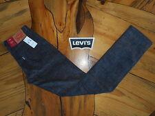 NEW Levi's 511 Slim hip to ankle Black Gray Corduroy Jeans Pants 32 x 29 stretch