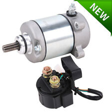 Starter & Relay Solenoid for Honda Trx250Tm Trx250 Tm Recon 250 2005-2017 Atv