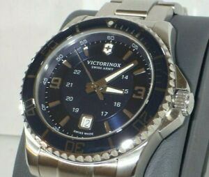 Victorinox Men's 241602 Maverick Swiss Army Stainless Steel Watch w/ Blue Dial
