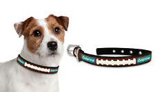 Miami Dolphins Small Leather Lace Dog Collar [NEW] Pet Cat Lead CDG NFL