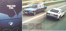 BMW 7 Series 728i 732i 735i E23 1980 UK Market Brochure