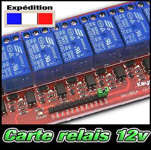 12v - Carte relais 12v  Arduino PIC ARM AVR DSP -- de 1, 2, 4, 8 relais au choix