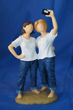 Forever in Blue Jeans Resin Figurine Picture Takers Women Girls w/ Camera 18453