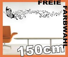 PAPILLON Ornement Musique 1E Couloir STICKER MURAL - 150cm