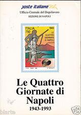 CATALOGO POSTE ITALIANE LE QUATTRO GIORNATE DI NAPOLI 43-93