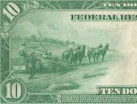 LARGE 1914 $10 DOLLAR BILL FEDERAL RESERVE NOTE BIG CURRENCY OLD PAPER MONEY EF