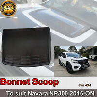 Black Bonnet Scoop Hood Cover to suit Nissan Navara D23 NP300 2014+ DEFECTIVE