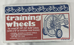 Wald Products #742 Training Wheels fits 16in - 26in Childrens Kids Child Bike