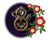 2017  English Masonic Pin Badge  + Masonic Jewel Pocket Display Card
