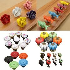 Retro Ceramic Knob Drawer Cupboard Door Kitchen Cabinet Pull Handle Knob DIY