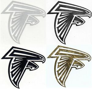 Atlanta Falcons decal sticker sizes up to 12 inches Reflective, Chrome etc