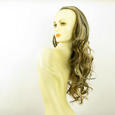 DT Half wig HairPiece wavy clear light coppery blond chocolate 25.6 :15/15613h4