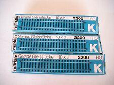 Märklin H0 - K-Gleis gerade 30 Gleisstücke Art.-Nr. 2200 gebraucht /OVP