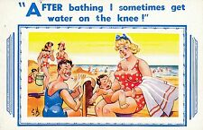 POSTCARD  COMIC   Seaside and Baby Related