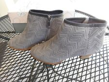 Envy (E-Babs) size 8M-Suede ankle boots-Gray & Lilac-New in Box