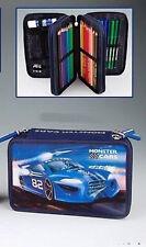 Monster Cars 3-fach Federtasche 3d-Motiv  8209 -Federmappe  schwarz   DEPESCHE