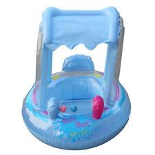 Baby Schwimmsitz Blau Schwimmring mit Dach Babyboot Schwimmhilfe Schwimmreifen