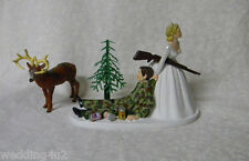 Wedding Party Reception Drunk Camo Groom Military Hunter Beer Cans Cake Topper