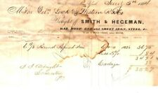New listing Antique Smith & Hageman - Bar & Sheet Iron, Steel - Scranton Pa 1864 Billhead