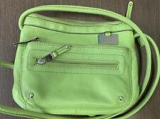 Tignanello Lime Green LEATHER Crossbody Shoulder Bag Handbag Organizer - EXCEL