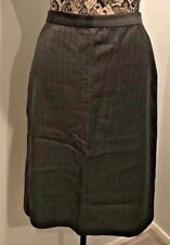 KORS Michael Kors Collection Italy Charcoal Gray Pinstripe Skirt Sz 12