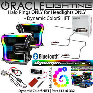 ORACLE Dynamic ColorSHIFT DRL Halo Rings for LED Headlights for 15-17 Ford F150