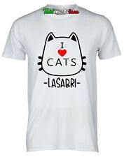 Maglietta I Love CATS LASABRIGAMER sabrigamer  la sabri maglia t-shirt bambina/o