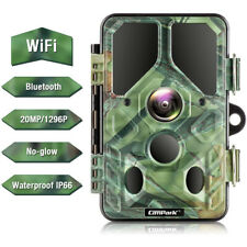 Campark WLAN Wildkamera 20MP HD 1296P Bluetooth No Grow IR Nachtsicht Jagdkamera