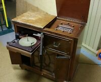 Vintage Firestone Console Radio Record Player Receiver 4-A-15