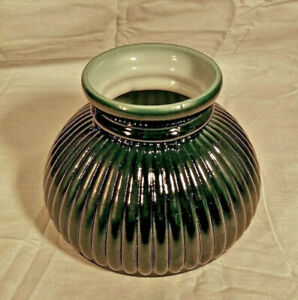 """Westinghouse Green 6"""" Student Ribbed Glass Globe Replacement Shade 84091 NEW WOW"""