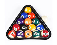 Deluxe USA Mini Pool Billiard Balls Set w/ Plastic 8-Ball Triangle Rack