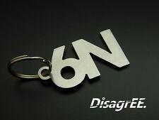 """Schlüsselanhänger """"6N"""" Polo 1,0 1,2 1,4 1,6 16V GTI MK3 - Edelstahl GEBÜRSTET!"""
