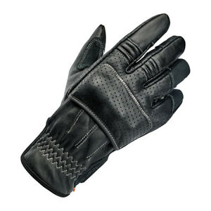 Biltwell Borrego Motorcycle Gloves, Leather, Black Grey, SIZE XS Ce Approved