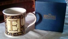 BOXED DUNOON MUG WITH LETTER E ON IT .