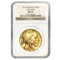 2012 1 oz $50 Gold American Buffalo NGC MS 70