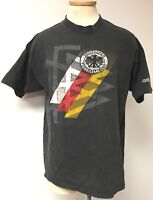 DEUTSCHER FUSSBALL - BUND VINTAGE FADED BLACK LOGO T-SHIRT ADIDAS MENS SIZE XL