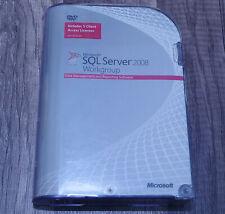 BRAND NEW Microsoft SQL Server 2008 Workgroup A5K-02337 5-CAL Genuine