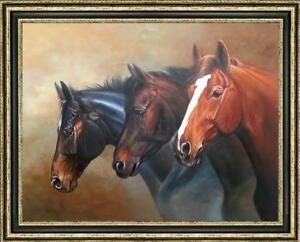 "Hand-painted Original Animals Oil painting art horse head on Canvas 30""x40"""