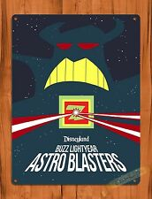 "TIN-UPS Walt Disney Tin Sign ""Buzz Lightyear Zurg Astroblasters"" Art Ride Poster"
