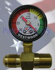 WESTWOOD F100-65, F100-60 FITTING WITH F100-14 FLI GAUGE, Filter Life Indicator