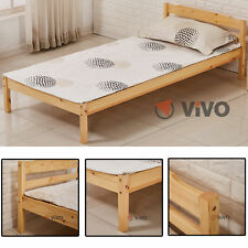 Single Bed Pine 3ft Strong Wooden Frame Adult or Kids Rental Home Flat Bedroom