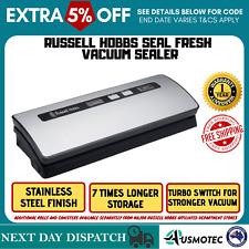 New Russell Hobbs Food Vacuum Machine Stainless Steel Sealer Kitchen Food Saver