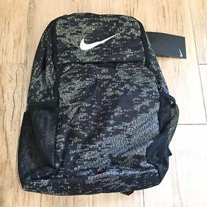 """Nike Brasilia Backpack Xl Black White 9.0 Training BA5960-010 Laptop 15"""""""